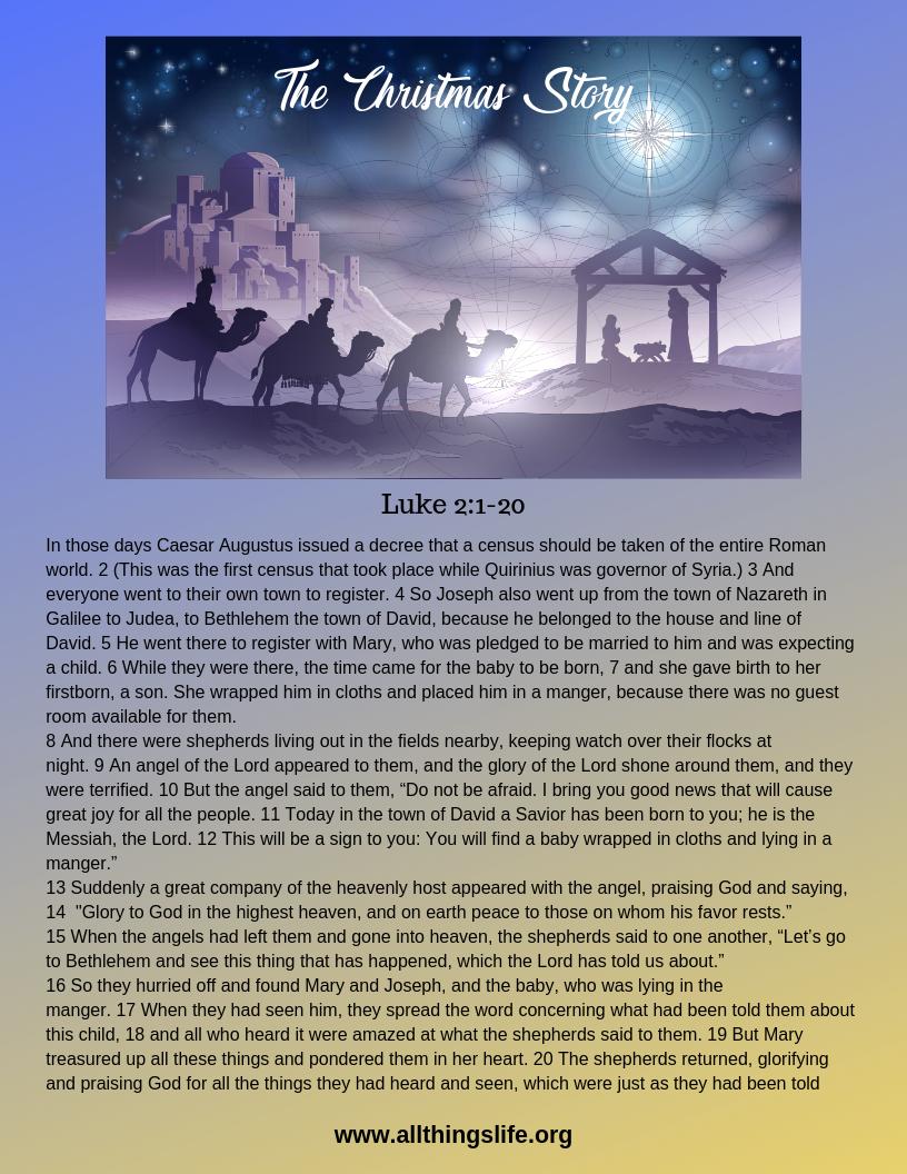 The Christmas Story Baby Jesus