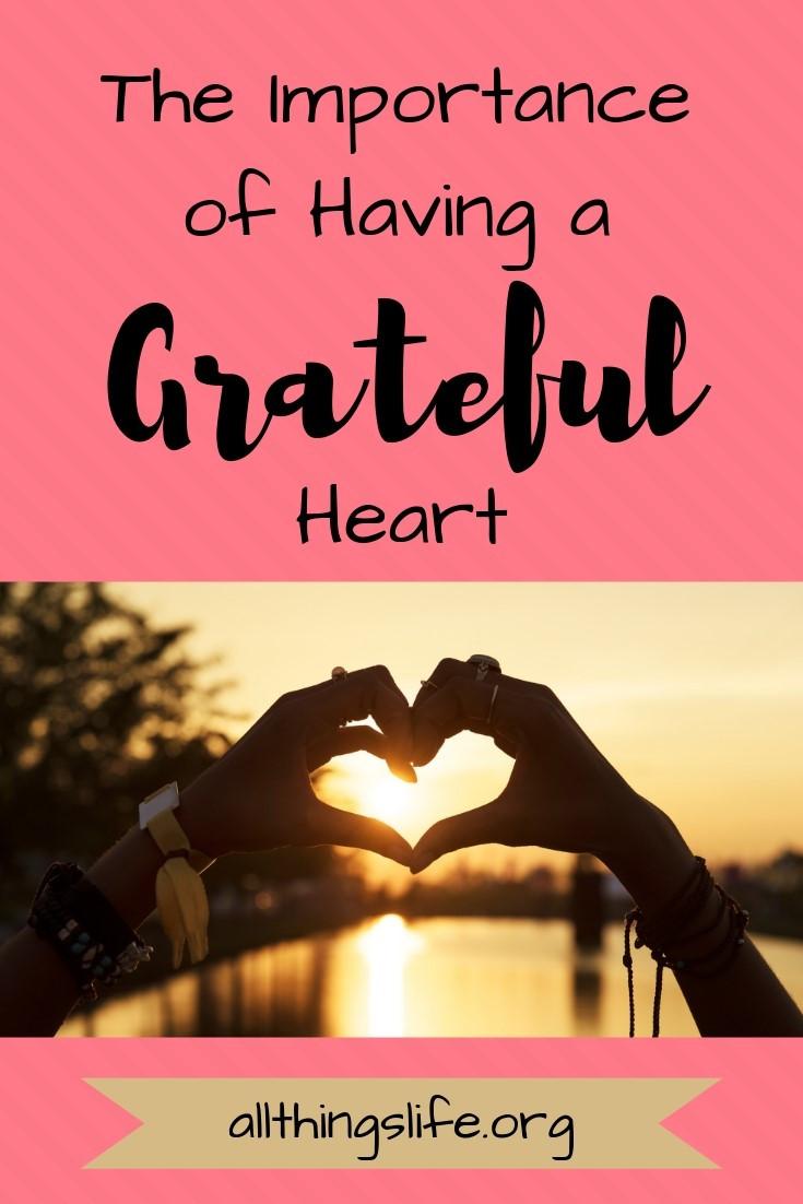 Having a grateful heart