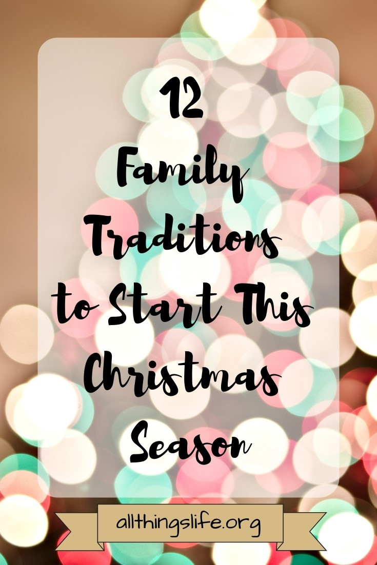 12 Family Traditions for Christmas
