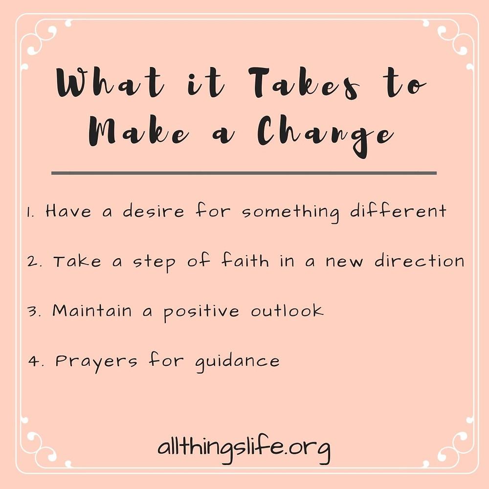 What it takes to make a change