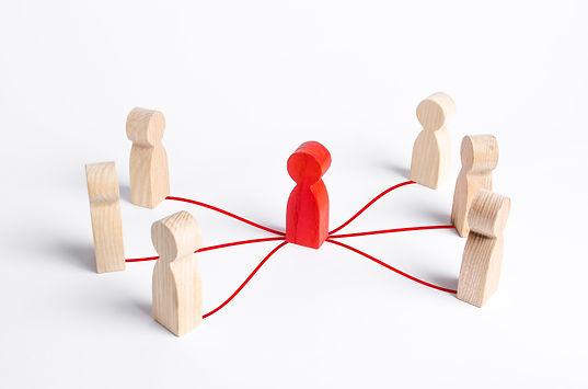 Intermediary between two people groups.