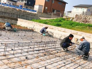 諫早市西栄田町T様邸|基礎鉄筋組み