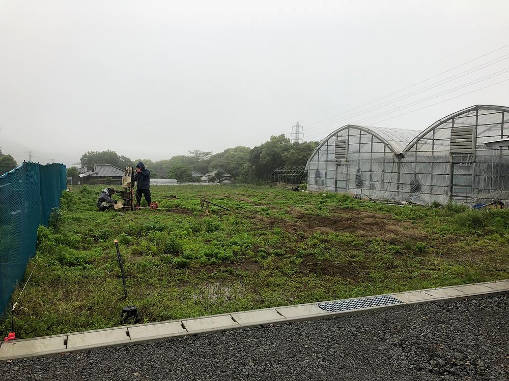 雲仙市愛野町N様邸地盤調査の写真