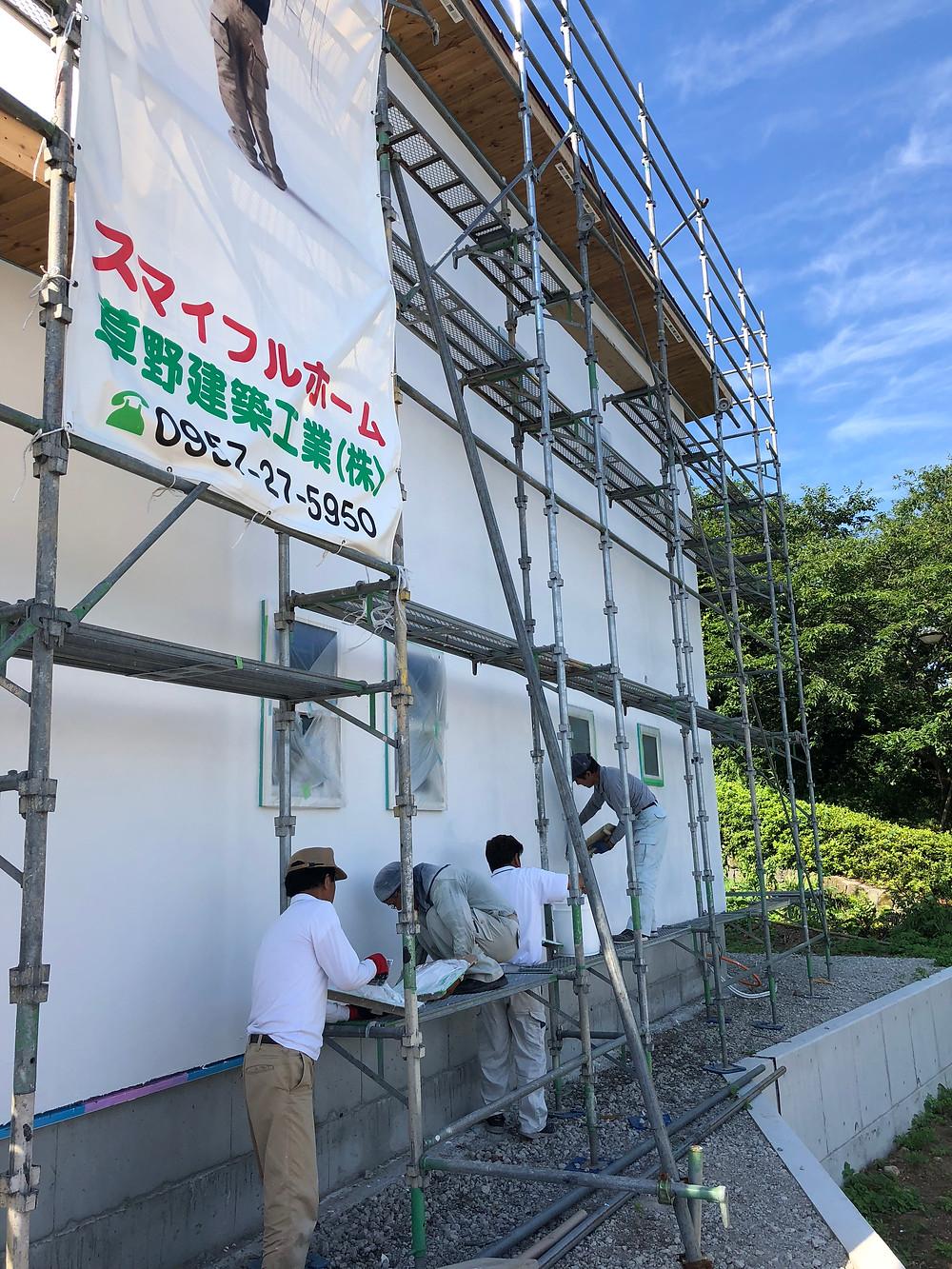 雲仙市吾妻町K様邸塗り壁の写真