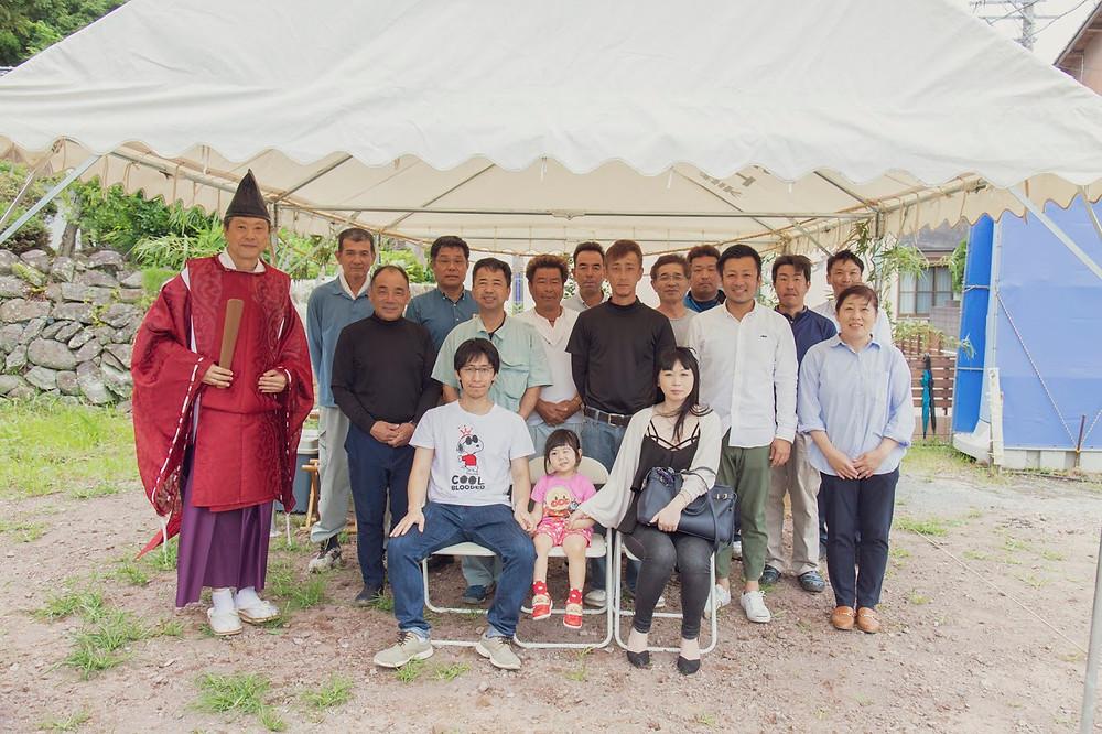 諫早市森山町H様邸地鎮祭の写真