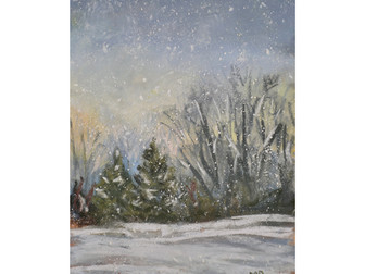 Painting Snow- Color Pallet