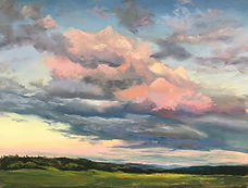 Painting of Sunset Sky