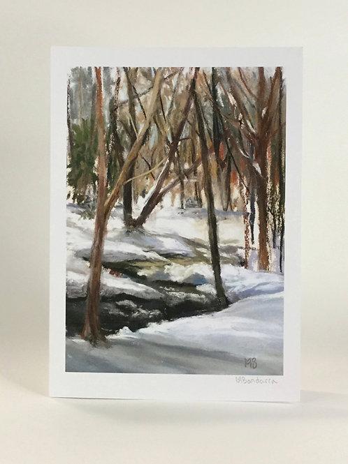 Winter Meditation- Greeting Card
