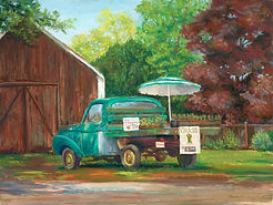 Hadley Asparagus Stand Painting