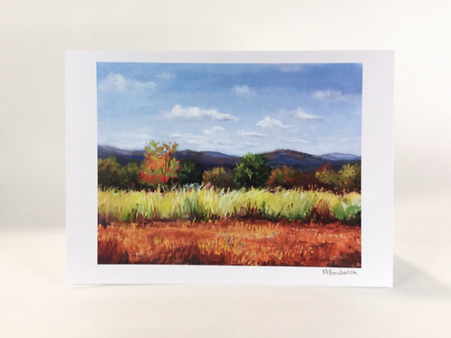 Autumn Complements- Greeting Card