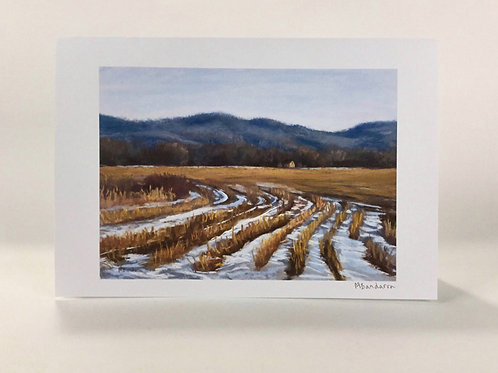 Winter Field- Greeting Card