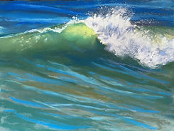 Painting of an ocean wave