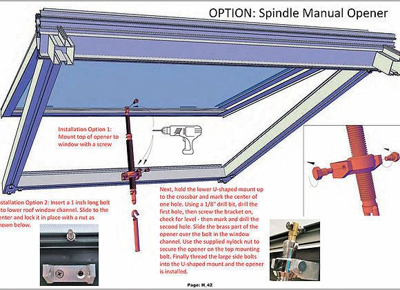Manual Spindle Opener