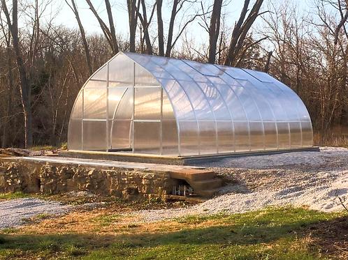 Hoklartherm Riga XL 9 Greenhouse ( 30 ft L x 14 ft W x 10 ft H)