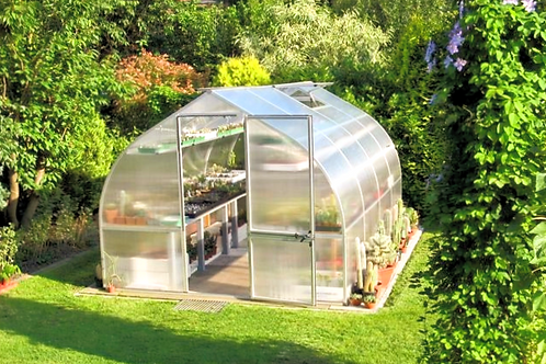 Hoklartherm Riga 4 Greenhouse (14 ft L x 10 ft W x 8 ft H)
