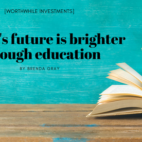 A child's future is brighter through education