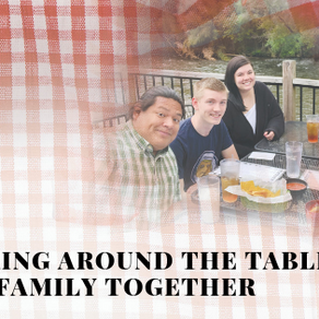 Gathering around the table draws family together