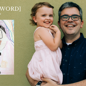 Maggie's crayon portrait captures Dad's spirit