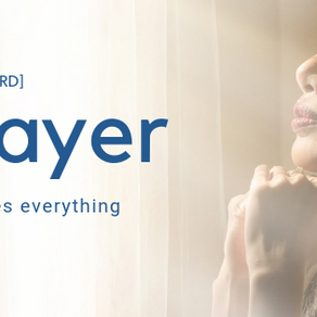 Prayer changes things - mainly us