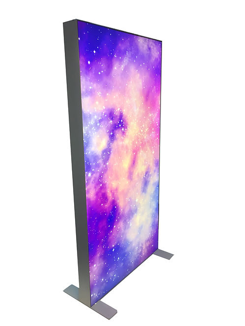 Galaxy Lightbox Manufacturer, LED Lightbox, Lightbox Manufacturer, UK Manufacturer, Tension Fabric Lightbox, flex faced lightbox manufacturer, lightbox manufacturer, LED UK, Galaxy 125, double sided fabric lightbox