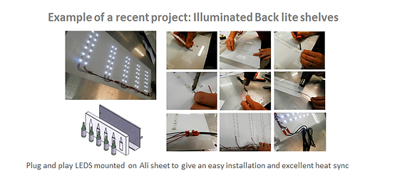 LED Kits, plug and play kits, wiring looms, RGB, Prototype, Flexistrip, Shelf Lighting