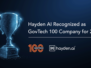 Hayden AI Recognized as GovTech 100 Company for 2021