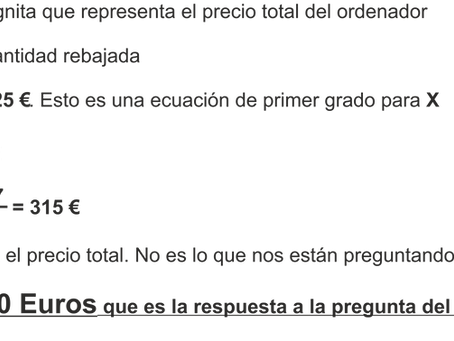 Resolución de un problema con álgebra vs modelado de barras
