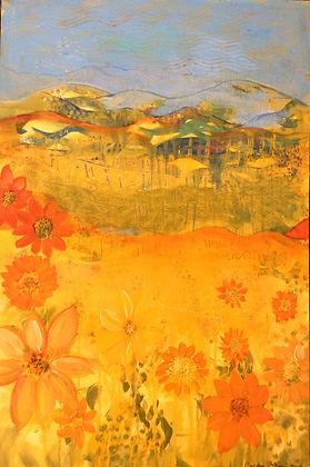 Copy of Hidden in the Sunflowers  24x36