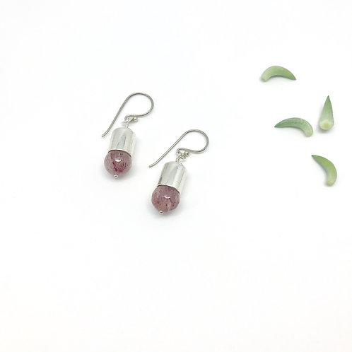 IVY Strawberry Quartz Earrings