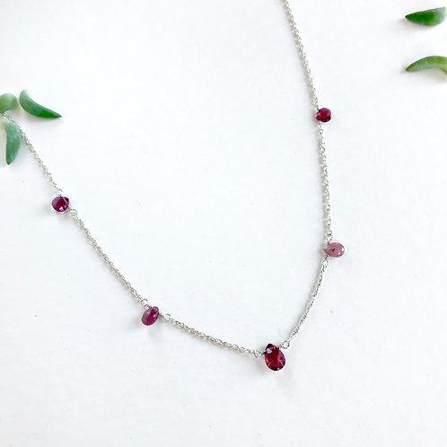 CAMILLE Pink Tourmaline Collar Necklace