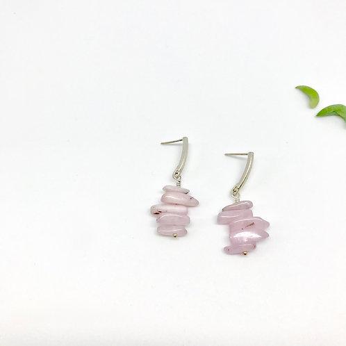 FRIDA Kunzite Stacked Earrings