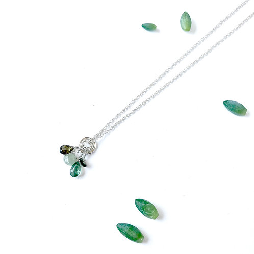 CAMILLE Green Tourmaline Drop Necklace