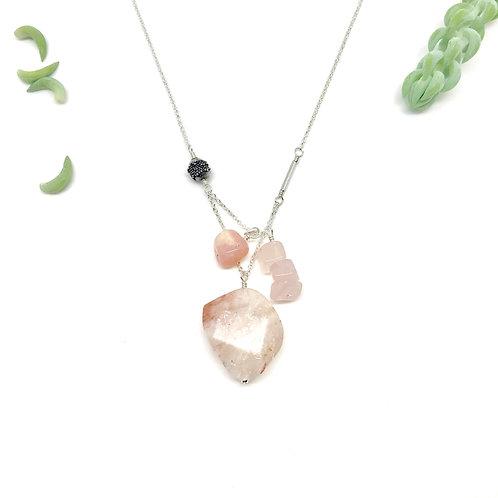 PIPER Strawberry Quartz Necklace