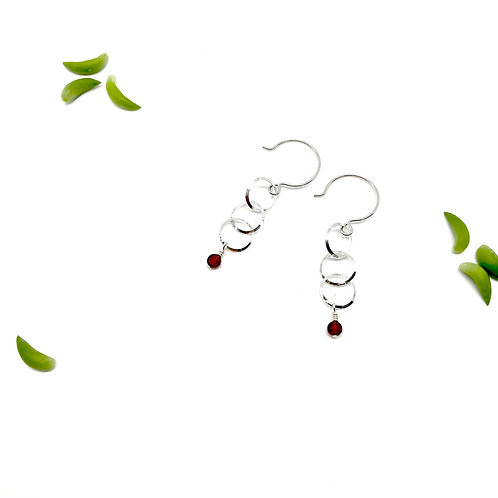 INES  Garnet Drop Earrings