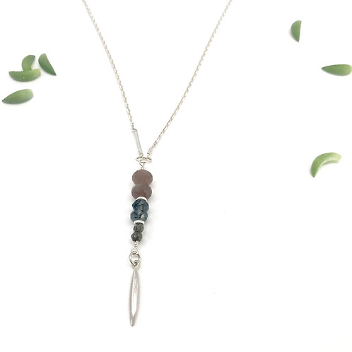 EMMA Chocolate Moonstone Necklace