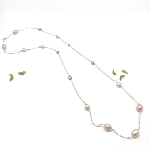GRACE Pink Pearl XLong Necklace