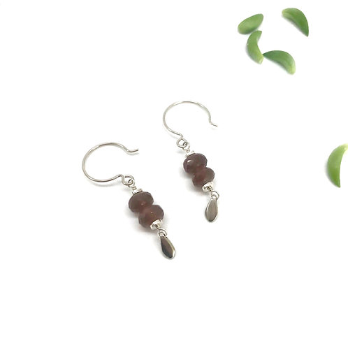 EMMA Chocolate Moonstone Earrings
