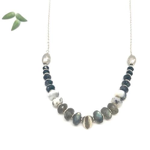 HELENE Labradorite Stacked Necklace