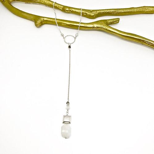 SIMONE Moonstone Y Necklace