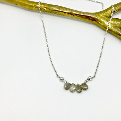 FIONA Labradorite Collar Necklace