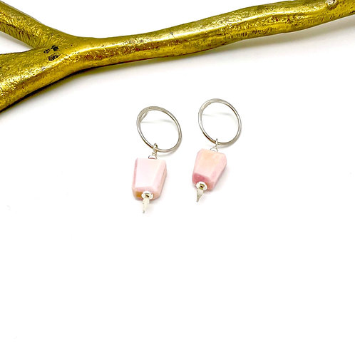 HARRY Pink Opal Post Earrings