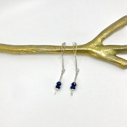 EMMA Blue Jade Earrings