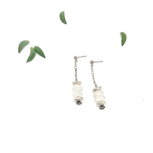 HELENE Moonstone Drop Earrings