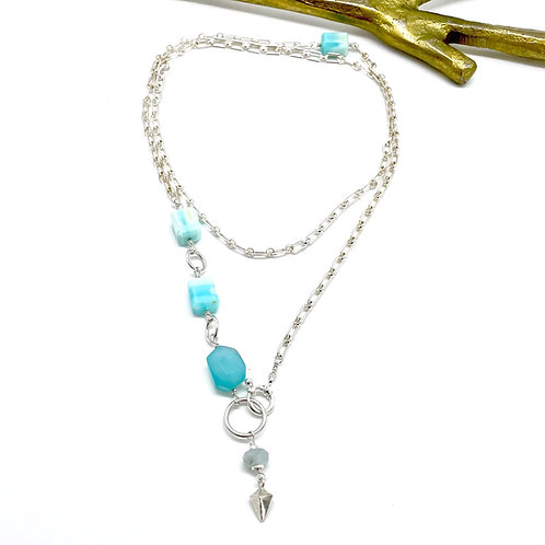 HARRY Peruvian Opal Rope Necklace