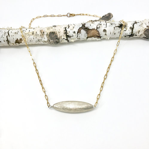GEOMETRICS XL Silver Rice Cable Chain Necklace