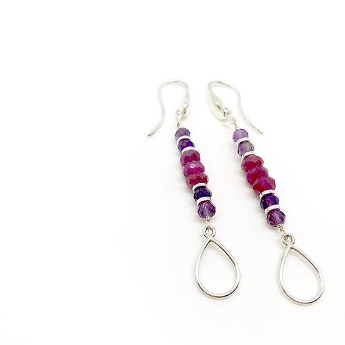 TORI Ruby Hook Earrings