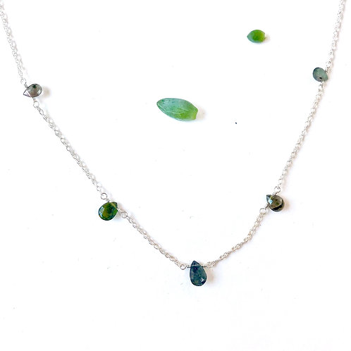 CAMILLE Green Tourmaline Collar Necklace