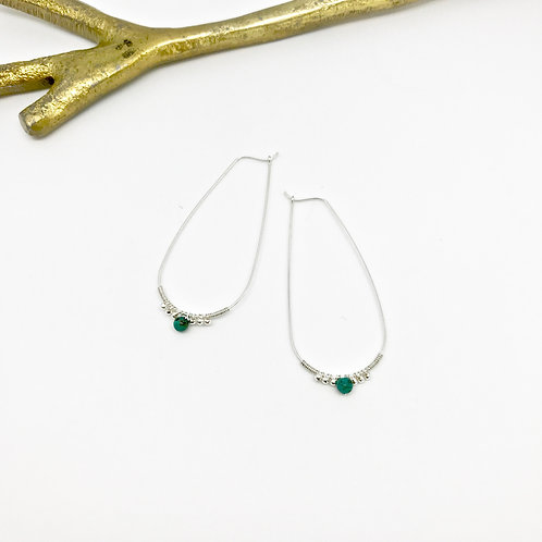 LILITH Turquoise Teardrop Hoops