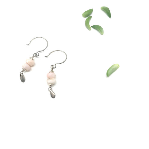 EMMA Pink Opal Earrings