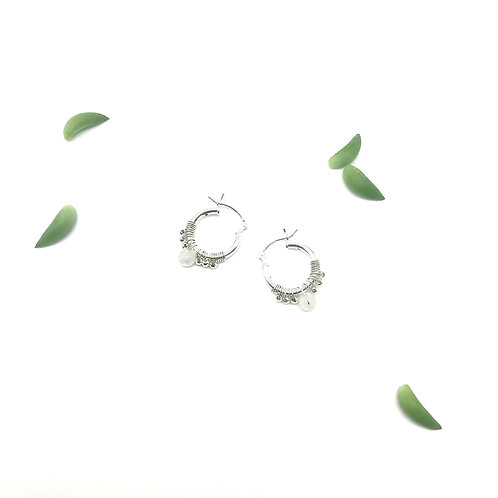 LISE  Moonstone Hoops
